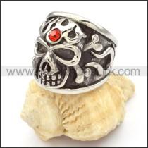 Stainless Steel Skull Ring r000477