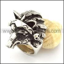 Fierce Wild Boar Ring in Stainless Steel r000702