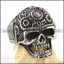 Stainless Steel Delicate Skull Ring r000069