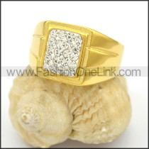 Exquisite Shiny Stone Stainless Steel Ring r002784