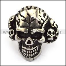 Stainless Steel Skull Ring  r003698