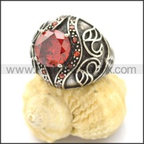 Vintage Stone Stainless Steel Ring r002602