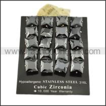 Elegant Stainless Steel Stone Earrings    e000641
