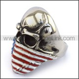 Stainless Steel Biker Ring  r003724