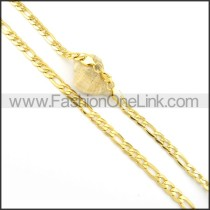 Classic Golden Plated Necklace n000563