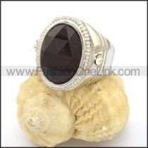 Vintage Stone Stainless Steel Ring r002730