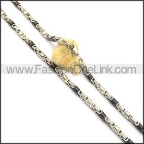 Hot Selling Black and Silver Plated Necklace n000808