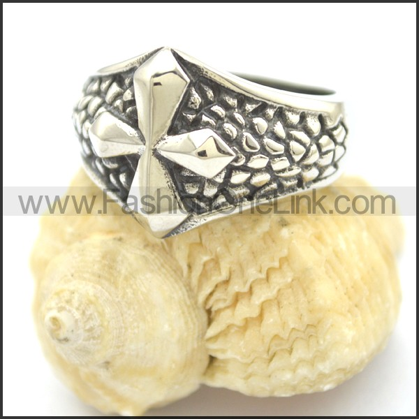 Delicate Cross Stainless Steel Ring  r002386
