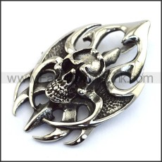 Hot Selling Stainless Steel Skull Pendant   p003584