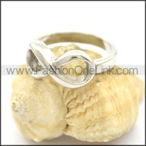 Delicate Casting Stainless Steel Ring  r002389