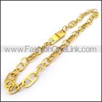 Gold Number 8 Plated Necklace n001141
