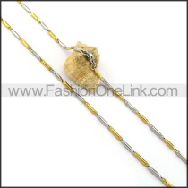 Two Tone Plated Necklace n001058