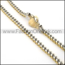 Two Tone Plated Necklace n000088
