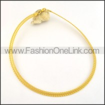 Golden Plated Coil Necklace     n000494