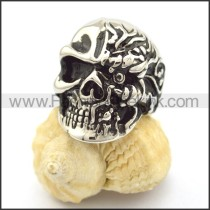 Exquisite Stainless Steel Skull Ring  r001786