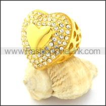 Stainless Steel Heart-shaped Ring r000757