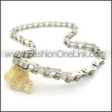 Fashion Steel Bicycle Chain Biker Necklace n000455