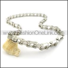 Fashion Steel Bicycle Chain Biker Necklace n000455