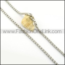 Succinct Silver Stamping Necklace     Necklace    n000309