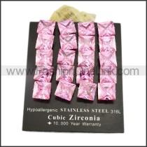 Elegant Stainless Steel Stone Earrings    e000642