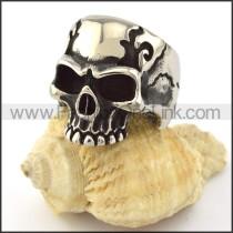 Stainless Steel Skull Ring r001049