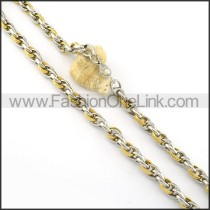 Succinct Gold and Silver Plated Necklace      n000280