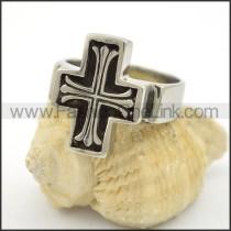 Stainless Steel Cross Ring r001739