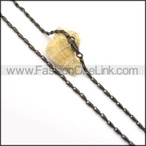 Decorous Black Plated Necklace n000683