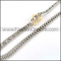 Silver Stamping Necklace   n000068