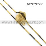 Black and Gold Plated Necklace n001110