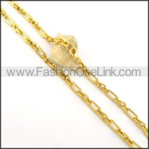 Succinct Golden Plated Necklace n000534