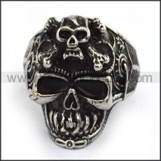 Stainless Steel Skull Ring  r003697