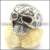 Stainless Steel Skull Ring for Motorcycle Bikers r000743