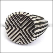 Exquisite Stainless Steel Casting Ring r003595