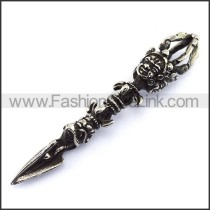 Delicate Stainless Steel Casting Pendant    p003506