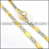 Succinct Silver and Golden  Plated Necklace      n000166
