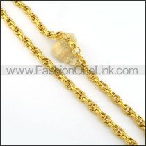 Succinct Gold Plated Necklace     n000278
