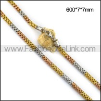 Tri-tone Plated Necklace n001101