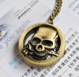 Vintage Skull Pocket Watch Chain PW000166