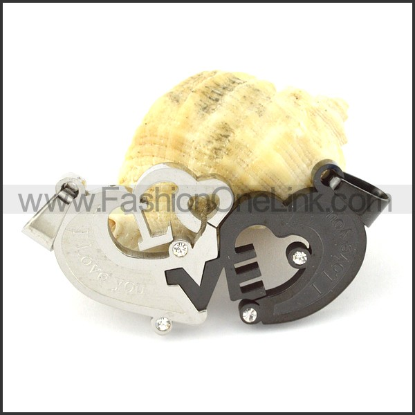 Exquisite Stainless Steel Couple Pendant  p000943