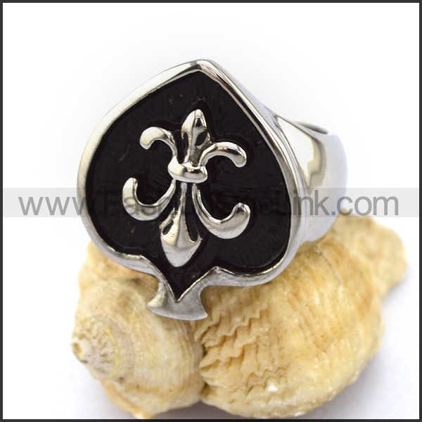 Delicate Stainless Steel Cross Ring    r002939