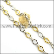 Interlocking Chain Plated Necklace n000803