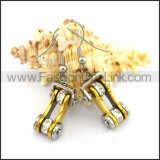 Fashion Golden Biker Earrings   e001161