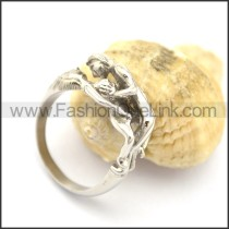 Stainless Steel Delicate Casting Ring r001906