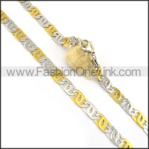 Graceful Two Tone Plated Necklace n000608