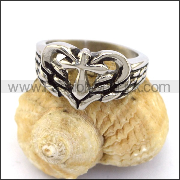 Stainless Steel Cross  Ring r003361