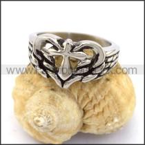 Stainless Steel Cross  Ring r003361