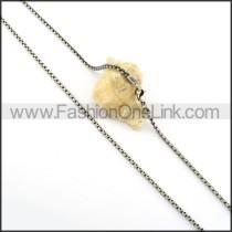 Silver Interlocking Stamping Necklace    n000335