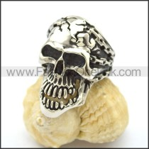 Unique Skull Stainless Steel Ring r002613