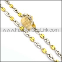 Unique Two Tone Plated Necklace n000784